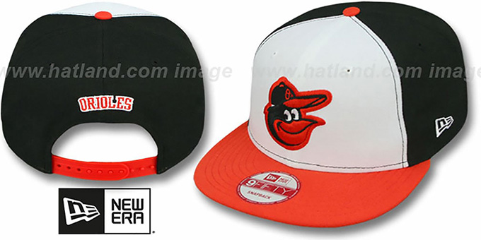 Orioles 'REPLICA HOME SNAPBACK' Hat by New Era : pictured without stickers that these products are shipped with