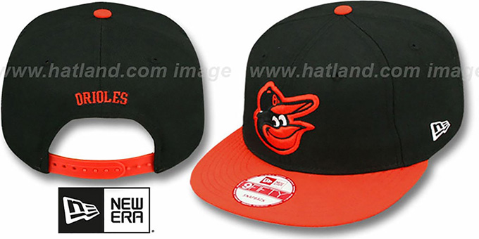 Orioles 'REPLICA ROAD SNAPBACK' Hat by New Era : pictured without stickers that these products are shipped with