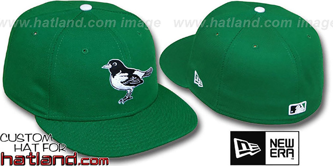 Orioles 'St Patricks Day' Fitted Hat by New Era : pictured without stickers that these products are shipped with