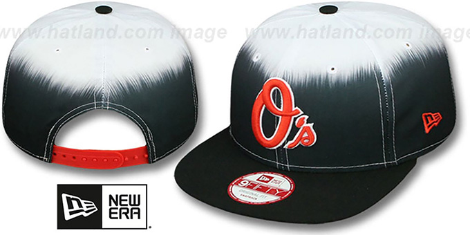 Orioles 'SUBLENDER SNAPBACK' Black-White Hat by New Era : pictured without stickers that these products are shipped with