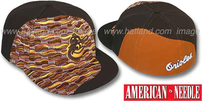 Orioles 'SWEATER SWIRL' Brown Hat by American Needle : pictured without stickers that these products are shipped with