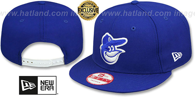 Orioles 'TEAM-BASIC SNAPBACK' Royal-White Hat by New Era : pictured without stickers that these products are shipped with