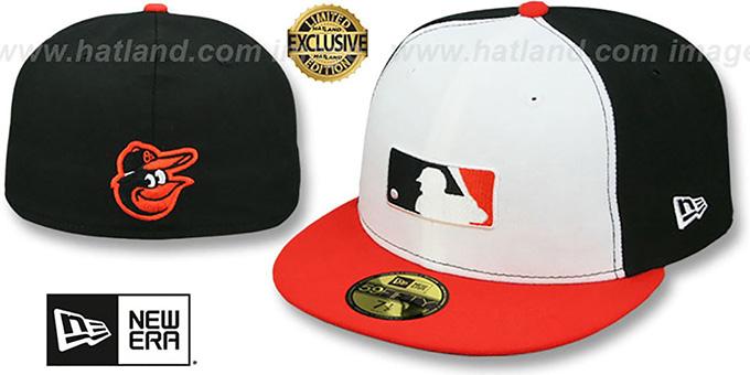 3781145709269c Baltimore Orioles TEAM MLB UMPIRE White-Black-Orange Hat