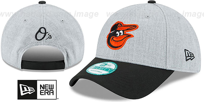 Orioles 'THE-LEAGUE HEATHER STRAPBACK' Grey-Black Hat by New Era