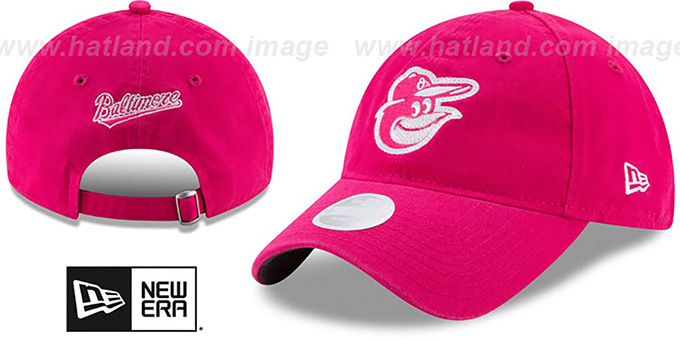 info for 3791e 3683d Orioles  WOMENS MOTHERS DAY GLIMMER STRAPBACK  Pink Hat by New Era