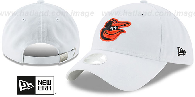 Orioles 'WOMENS PREFERRED PICK STRAPBACK' White Hat by New Era