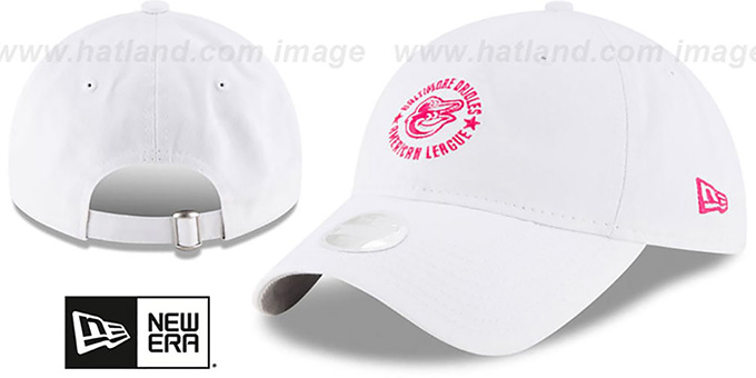 Orioles 'WOMENS TEAM-ACE STRAPBACK' White-Pink Hat by New Era