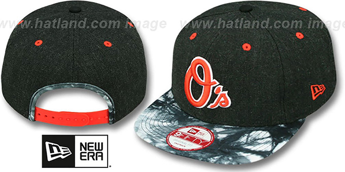 Orioles 'ZONE-VIZE SNAPBACK' Black Hat by New Era : pictured without stickers that these products are shipped with