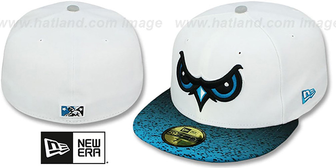 Owls 'GRADIENT HOOK' Fitted Hat by New Era : pictured without stickers that these products are shipped with