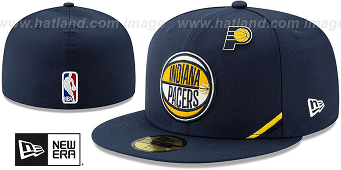Pacers '2019 NBA DRAFT' Navy Fitted Hat by New Era