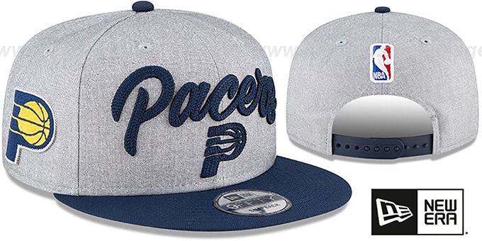 Pacers 'ROPE STITCH DRAFT SNAPBACK' Grey-Navy Hat by New Era