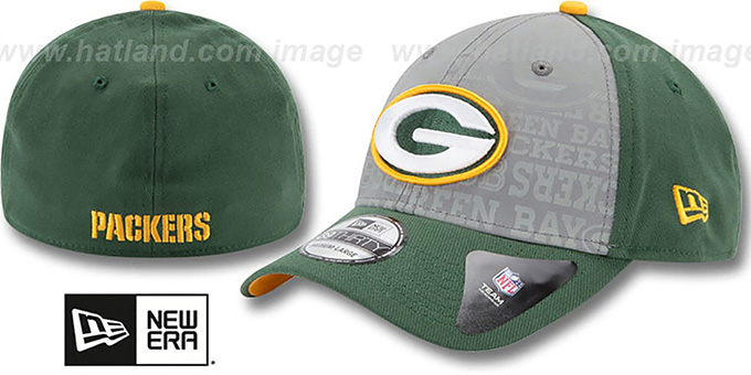 Packers '2014 NFL DRAFT FLEX' Green Hat by New Era : pictured without stickers that these products are shipped with