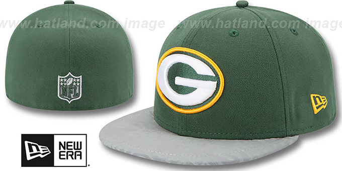 Packers '2014 NFL DRAFT' Green Fitted Hat by New Era : pictured without stickers that these products are shipped with