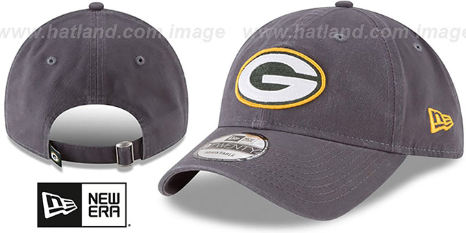 Packers 'CORE-CLASSIC STRAPBACK' Charcoal Hat by New Era