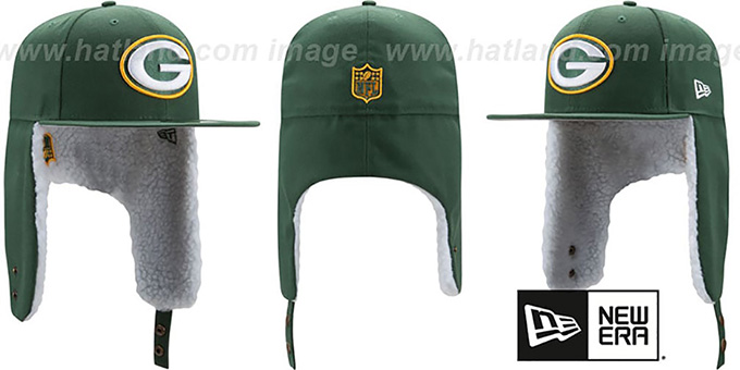 Packers 'FLURRY-FIT DOGEAR' Green Fitted Hat by New Era : pictured without stickers that these products are shipped with