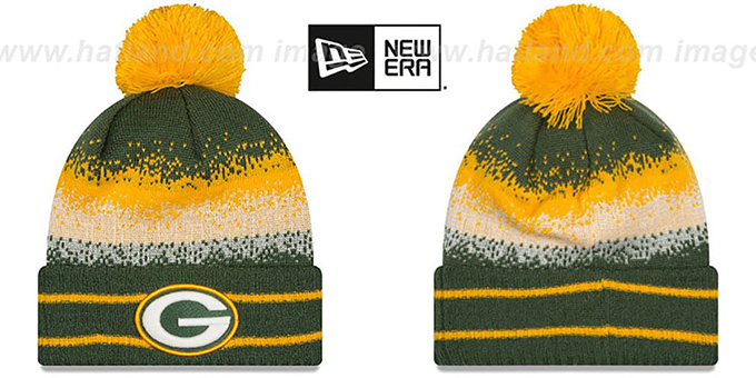 Packers 'SPEC-BLEND' Knit Beanie Hat by New Era : pictured without stickers that these products are shipped with
