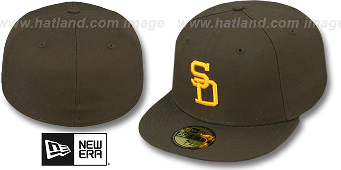 Padres '1969-71 GAME' Hat by New Era - brown : pictured without stickers that these products are shipped with