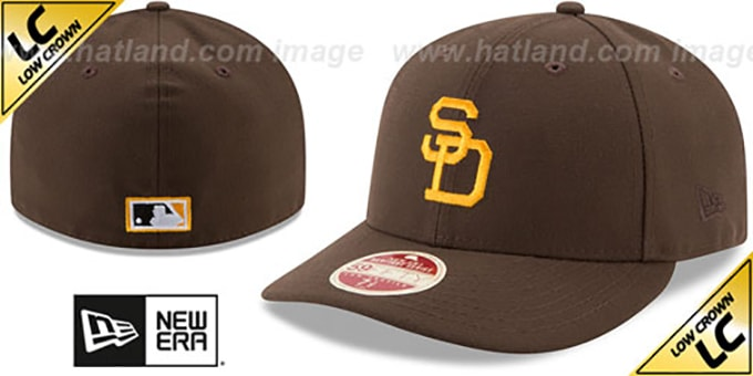 41fc61a03b1 San Diego Padres 1969 LOW-CROWN VINTAGE Fitted Hat