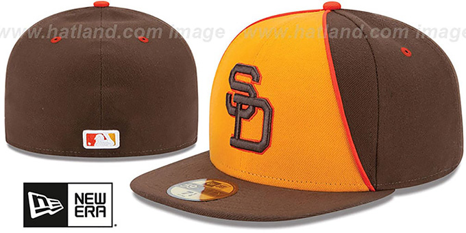 Padres '1983 TURN-BACK-THE-CLOCK' Fitted Hat by New Era : pictured without stickers that these products are shipped with