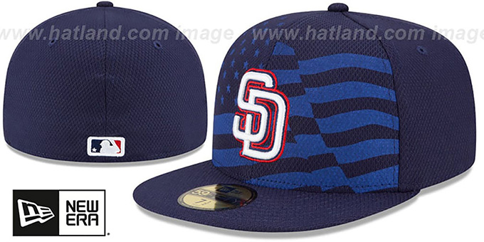 Padres '2015 JULY 4TH STARS N STRIPES' Hat by New Era : pictured without stickers that these products are shipped with