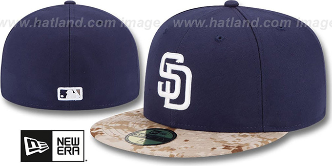 Padres '2015 STARS N STRIPES' Fitted Hat by New Era : pictured without stickers that these products are shipped with