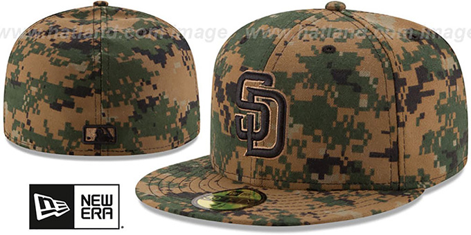 Padres 2016 MEMORIAL DAY 'STARS N STRIPES' Hat by New Era : pictured without stickers that these products are shipped with