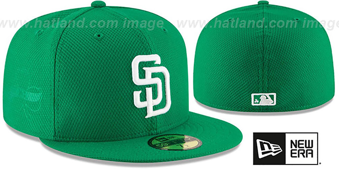 Padres '2016 ST PATRICKS DAY' Hat by New Era : pictured without stickers that these products are shipped with