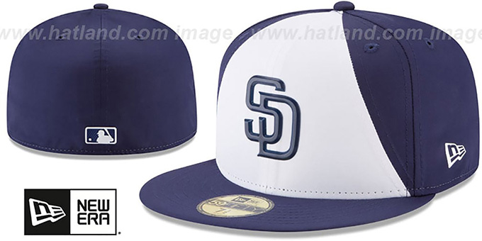 San Diego Padres 2018 PROLIGHT-BP White-Navy Fitted Hat 633fb81cabe