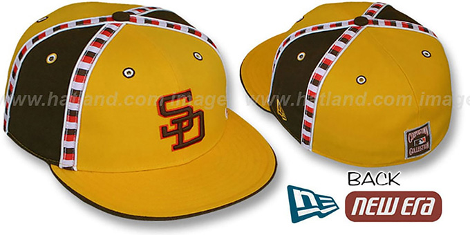 Padres 'CHECKERED PAST' Fitted Hat by New Era : pictured without stickers that these products are shipped with