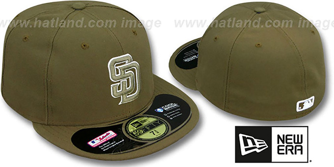 Padres 'PERFORMANCE' ALTERNATE Hat by New Era : pictured without stickers that these products are shipped with