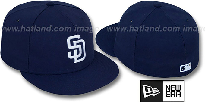 Padres 'PERFORMANCE GAME' Hat by New Era : pictured without stickers that these products are shipped with