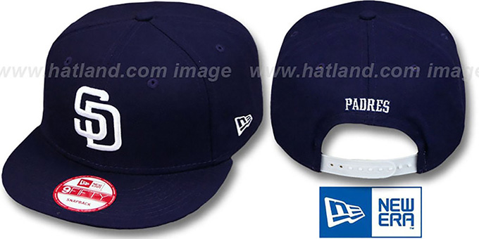 Padres 'REPLICA HOME SNAPBACK' Hat by New Era : pictured without stickers that these products are shipped with