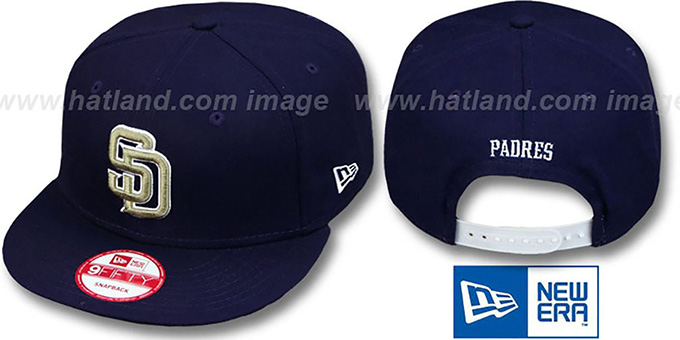 Padres 'REPLICA ROAD SNAPBACK' Hat by New Era : pictured without stickers that these products are shipped with