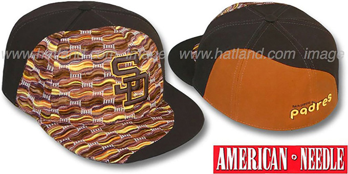 Padres 'SWEATER SWIRL' Brown Hat by American Needle : pictured without stickers that these products are shipped with