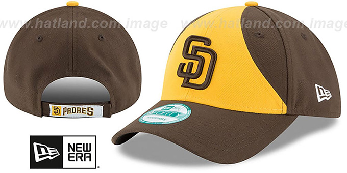 3bcf9be9b San Diego Padres THE-LEAGUE STRAPBACK ALT-2 Gold-Brown Hat by New Era