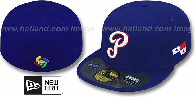 Panama 'PERFORMANCE WBC' Royal Hat by New Era : pictured without stickers that these products are shipped with