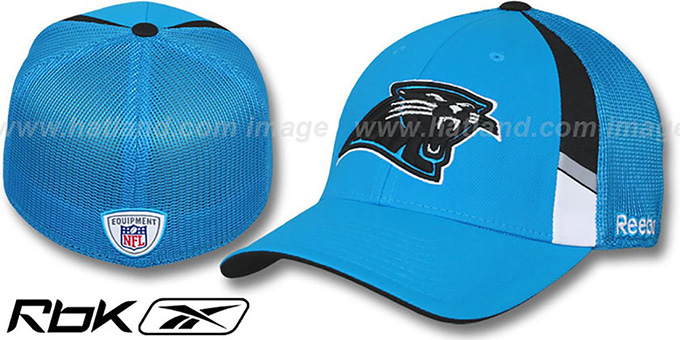 Panthers '2009 DRAFT-DAY FLEX' Blue Hat by Reebok : pictured without stickers that these products are shipped with