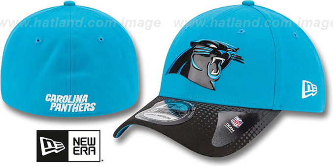 Panthers '2015 NFL DRAFT FLEX'  Hat by New Era : pictured without stickers that these products are shipped with