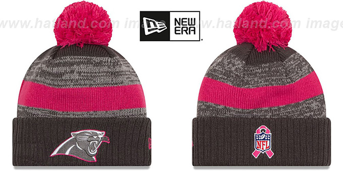 Panthers '2016 BCA STADIUM' Knit Beanie Hat by New Era : pictured without stickers that these products are shipped with