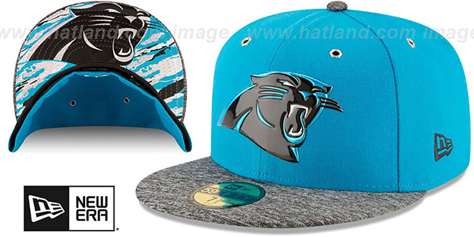 Panthers '2016 NFL DRAFT' Fitted Hat by New Era : pictured without stickers that these products are shipped with