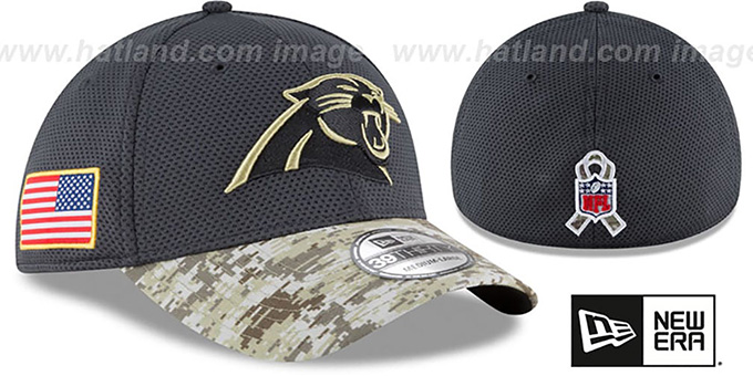 2248ceafc Carolina Panthers 2016 SALUTE-TO-SERVICE FLEX Grey-Desert Hat