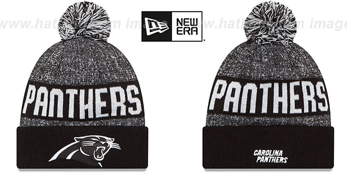 Panthers  2016 STADIUM  Black-White Knit Beanie Hat by New Era 712c41e8a