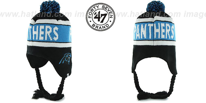 Panthers 'CRANBROOK' Knit Beanie Hat by Twins 47 Brand : pictured without stickers that these products are shipped with
