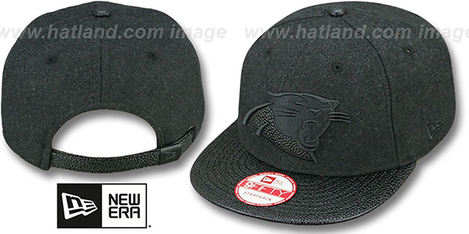 Panthers 'MELTON STINGER STRAPBACK' Hat by New Era : pictured without stickers that these products are shipped with
