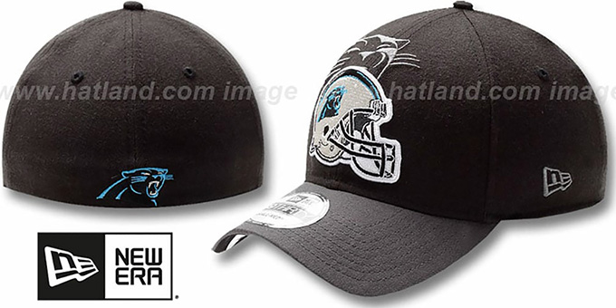Panthers 'NFL BLACK-CLASSIC FLEX' Hat by New Era : pictured without stickers that these products are shipped with