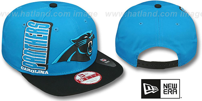Panthers 'RALLYMARK SNAPBACK' Blue-Black Hat by New Era : pictured without stickers that these products are shipped with