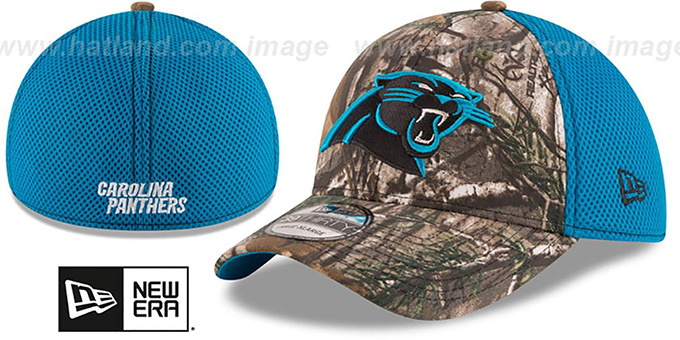 Panthers 'REALTREE NEO MESH-BACK' Flex Hat by New Era : pictured without stickers that these products are shipped with