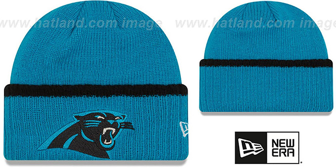 Panthers  RIBBED-UP  Blue Knit Beanie Hat by New Era 5ec311771