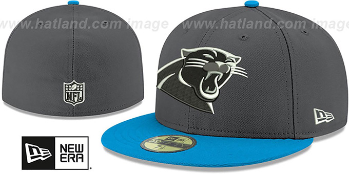 Panthers 'SHADER MELT-2' Grey-Blue Fitted Hat by New Era : pictured without stickers that these products are shipped with