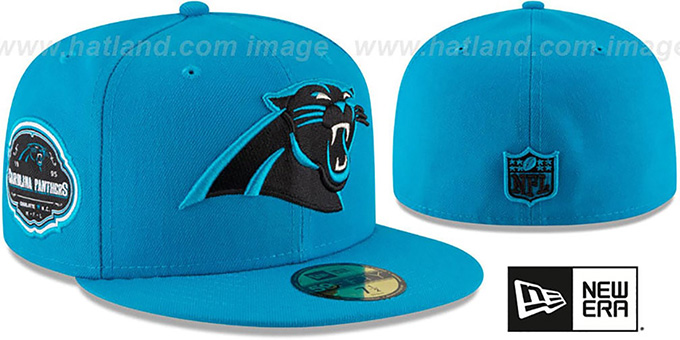 Carolina Panthers TEAM SUPERB Blue Fitted Hat by New Era